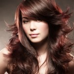 coiffure à la mode visage rond