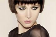 coiffure carré frange femme cheveux courts