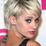coiffure courte pour visage rond 2014