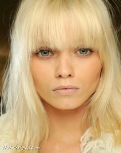coiffure femme 2014 frange