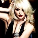 coiffure femme blonde visage rond