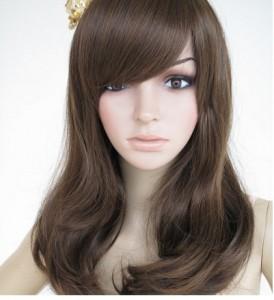 coiffure femme cheveux long avec mèche