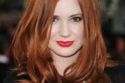 coiffure femme cheveux long roux