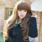 coiffure femme cheveux longs korean
