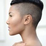 coiffure femme rasé sur les cotés 2014
