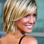 coiffure mèche couleur courte