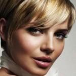 coiffure plaquée courte femme