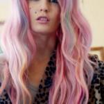 coiffure punk femme cheveux longs