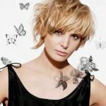 coiffure tendance visage rond 2014