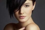 coiffure visage rond cheveux lisses