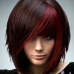 coiffure emo femme visage carré