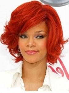 couleur coiffure rouge rihanna