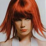 coiffure femme 30 ans coloration rouge