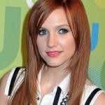 coiffure femme visage long couleur rousse