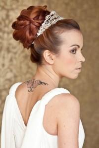 coiffure mariage femme visage long
