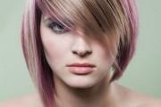idée femme 20 ans mèches de couleurs