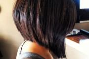 carré plongeant cheveux épais