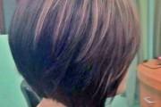 coiffure boule carré plongeant