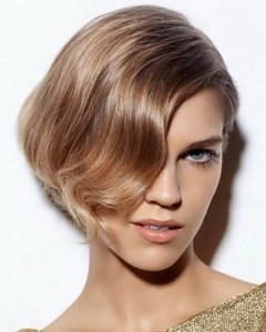 coiffure carré dégradé ondulé