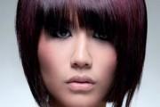 coiffure dégradé avec frange