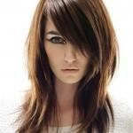 coiffure dégradé cheveux long lisse