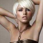 coiffure dégradé court avec frange