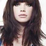 coiffure dégradé frange