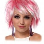 coiffure dégradé rose